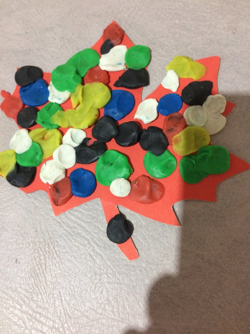 Отчёт по занятию Сделайте с малышом осенний кленовый лист  в Wachanga!