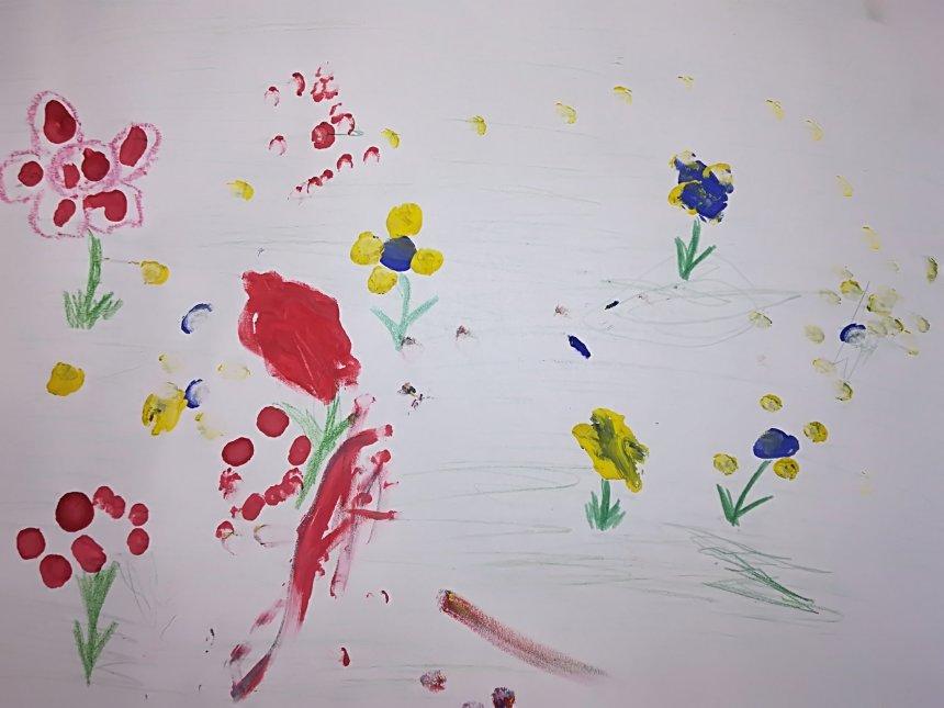 Отчёт по занятию Нарисуйте цветочную поляну в Wachanga!