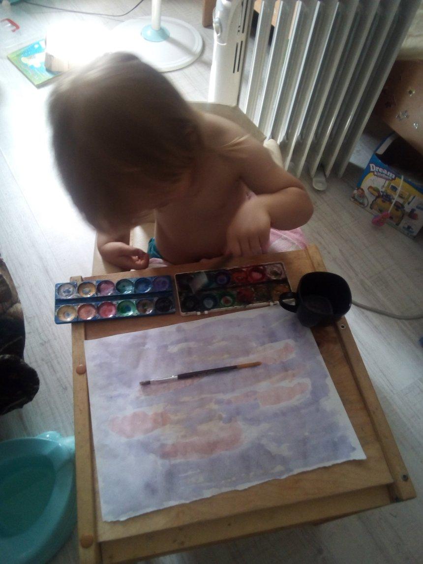 Отчёт по занятию Красочный закат глазами ребёнка в Wachanga!