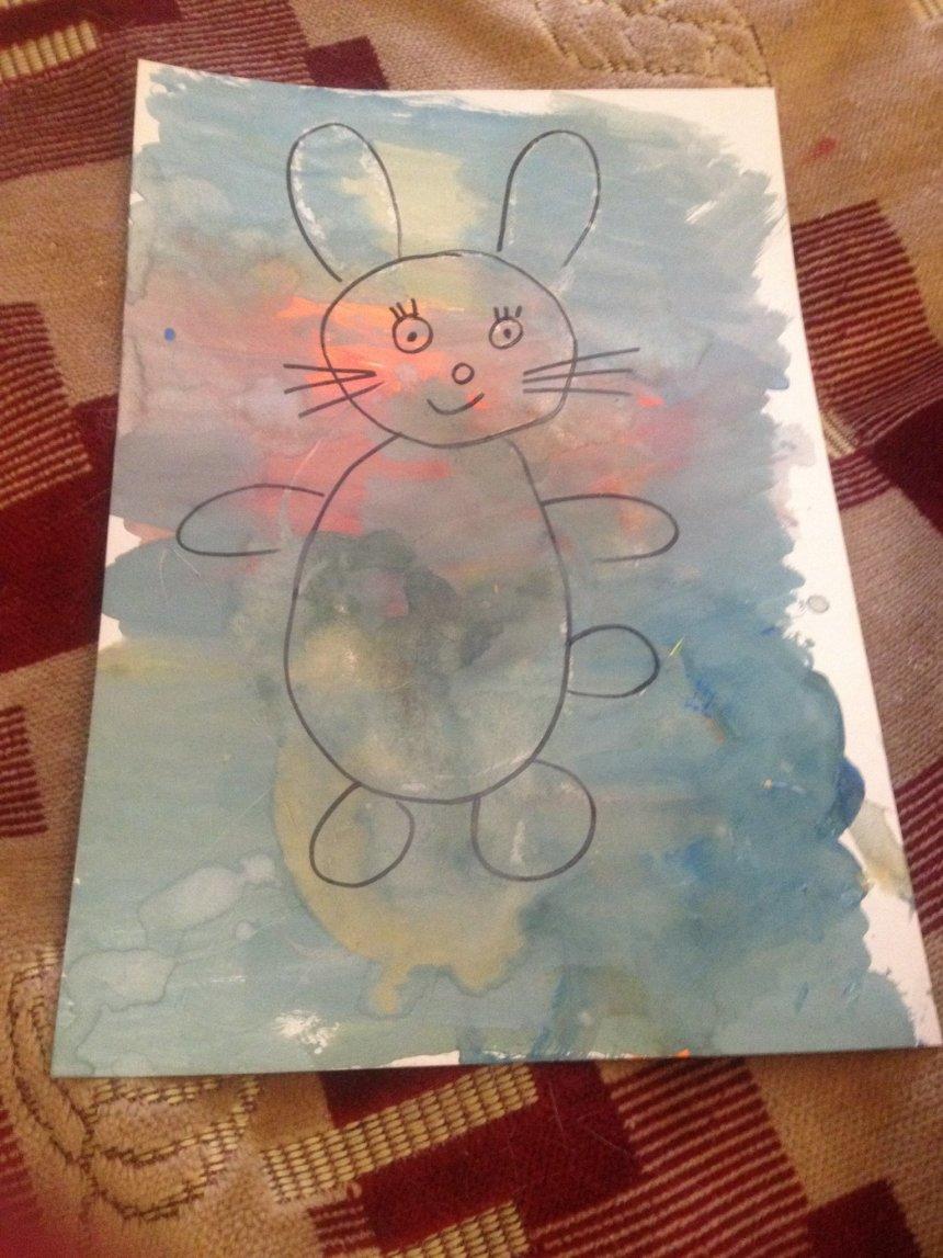 Отчёт по занятию Необычный рисунок зайчика в Wachanga!