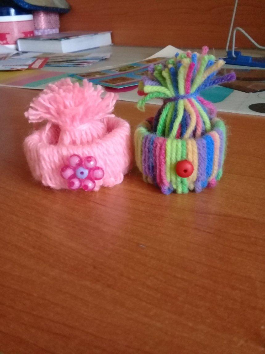 Отчёт по занятию Свяжите шапочку и шарфик для куклы в Wachanga!