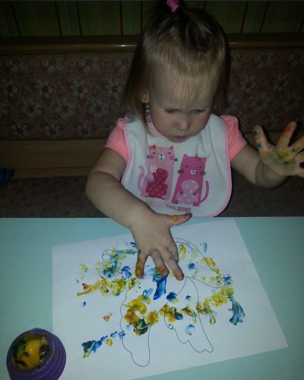 Отчёт по занятию Символ мира пальчиковыми красками в Wachanga!