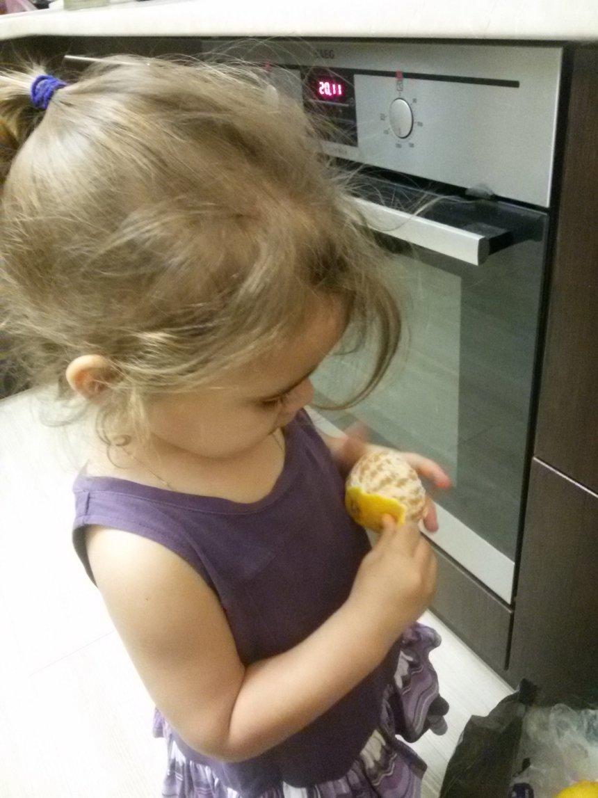 Отчёт по занятию Научите ребенка чистить мандарин в Wachanga!