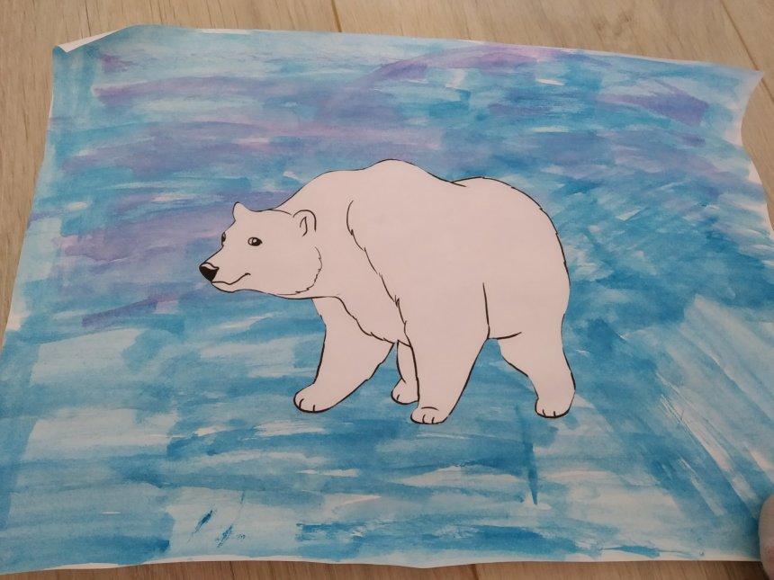 Отчёт по занятию Аппликация «Белый медведь» в Wachanga!