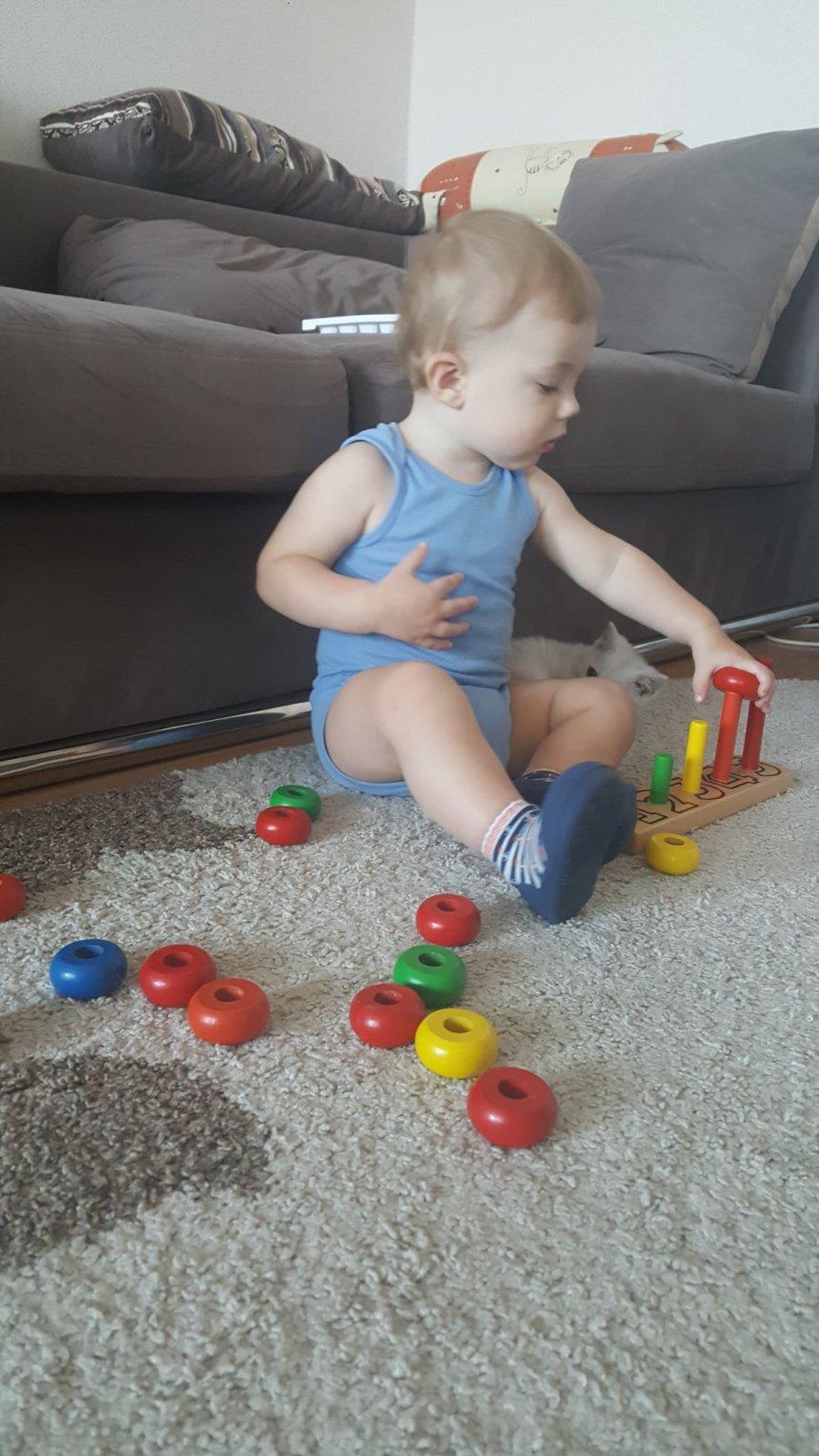 Отчёт по занятию Предложите малышу поиграть с деревянной пирамидкой в Wachanga!
