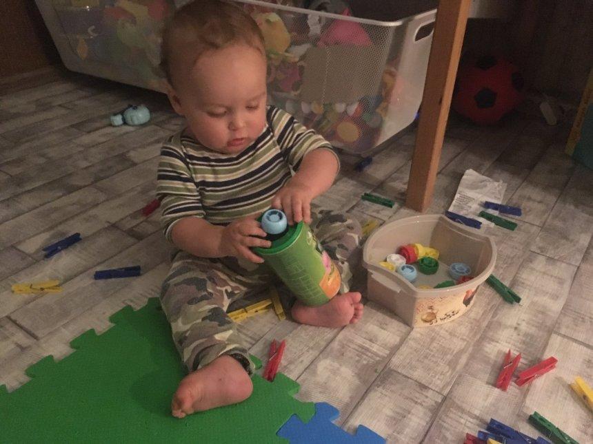 Отчёт по занятию Развивающия игрушка из жестяной банки в Wachanga!