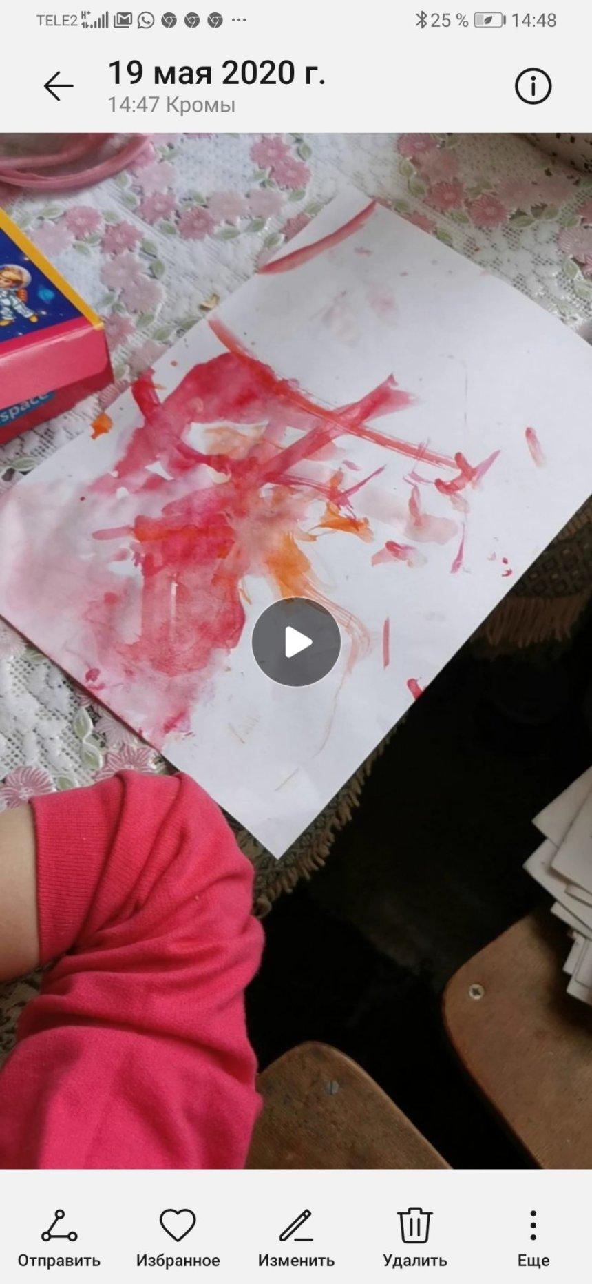 Отчёт по занятию Весёлые каляки-маляки в Wachanga!